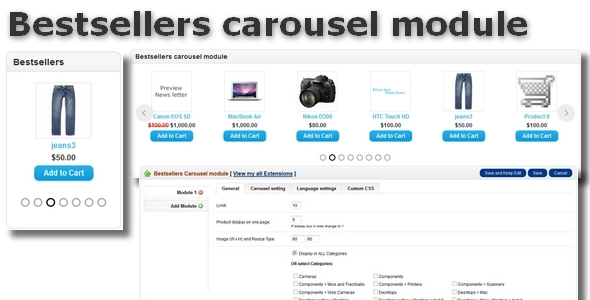 CodeCanyon Bestsellers carousel module for OpenCart 6775853