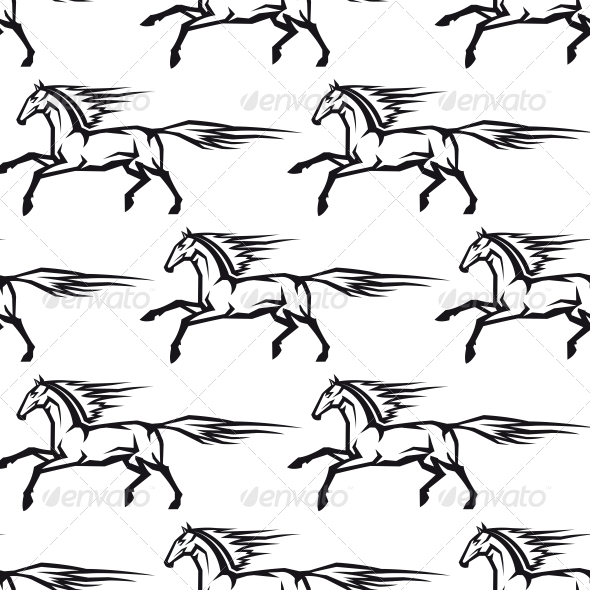 GraphicRiver Seamless Pattern of Horses 6776289