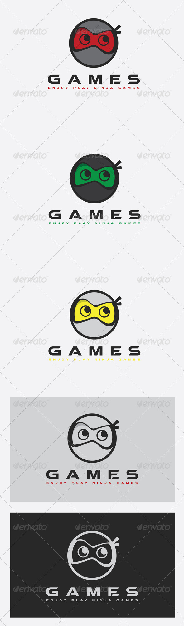GraphicRiver Games Ninja Logo 6776310