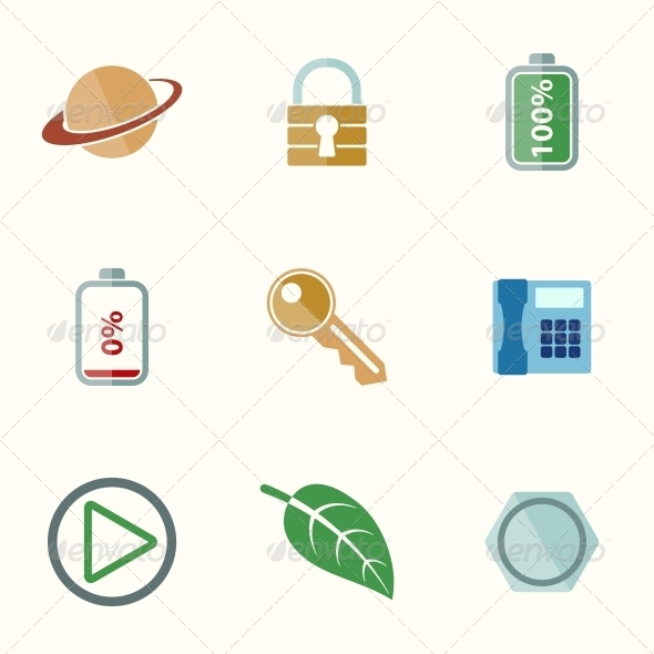 GraphicRiver Universal Flat Icons 6776540