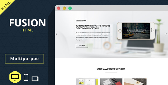 Fusion - Multipurpose Creative Template - Creative Site Templates