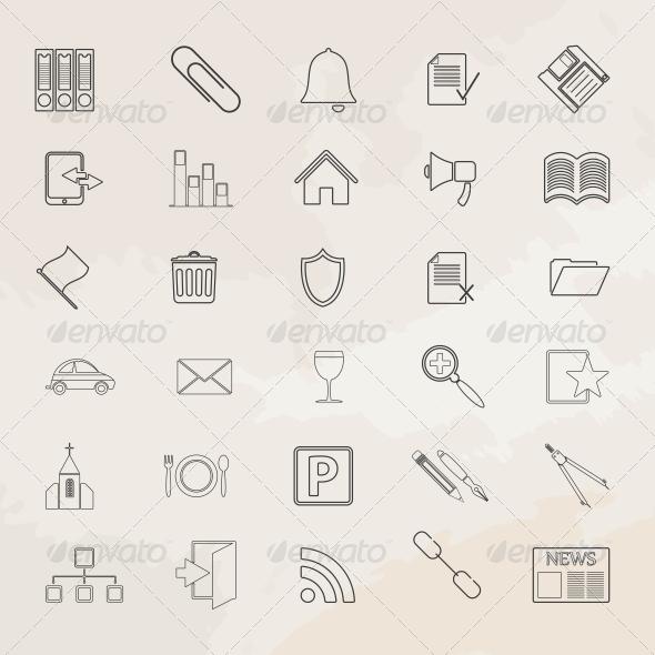 GraphicRiver Universal Icon Set 6776558