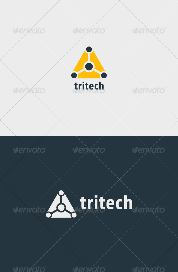 GraphicRiver Triangle Tech Logo 6776621