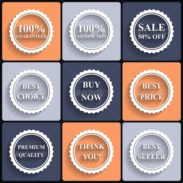GraphicRiver Set of Flat Sale Icons 6776634
