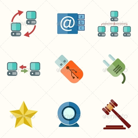 GraphicRiver Universal Flat Icons 6776643
