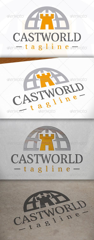 GraphicRiver Castle World Logo 6776849
