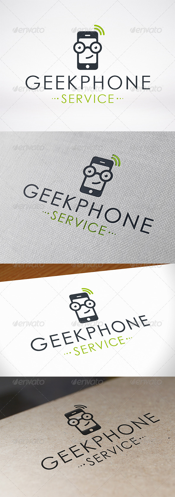 Geek Phone Logo Template