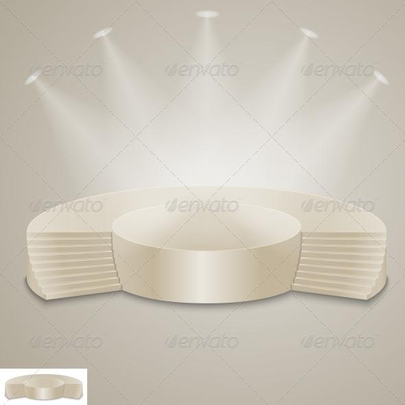 GraphicRiver Empty Illuminated Podium 6777146