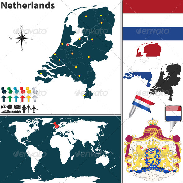 GraphicRiver Map of Netherlands 6777148