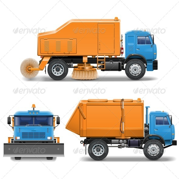 GraphicRiver Vector Sweeping Machine 6777484