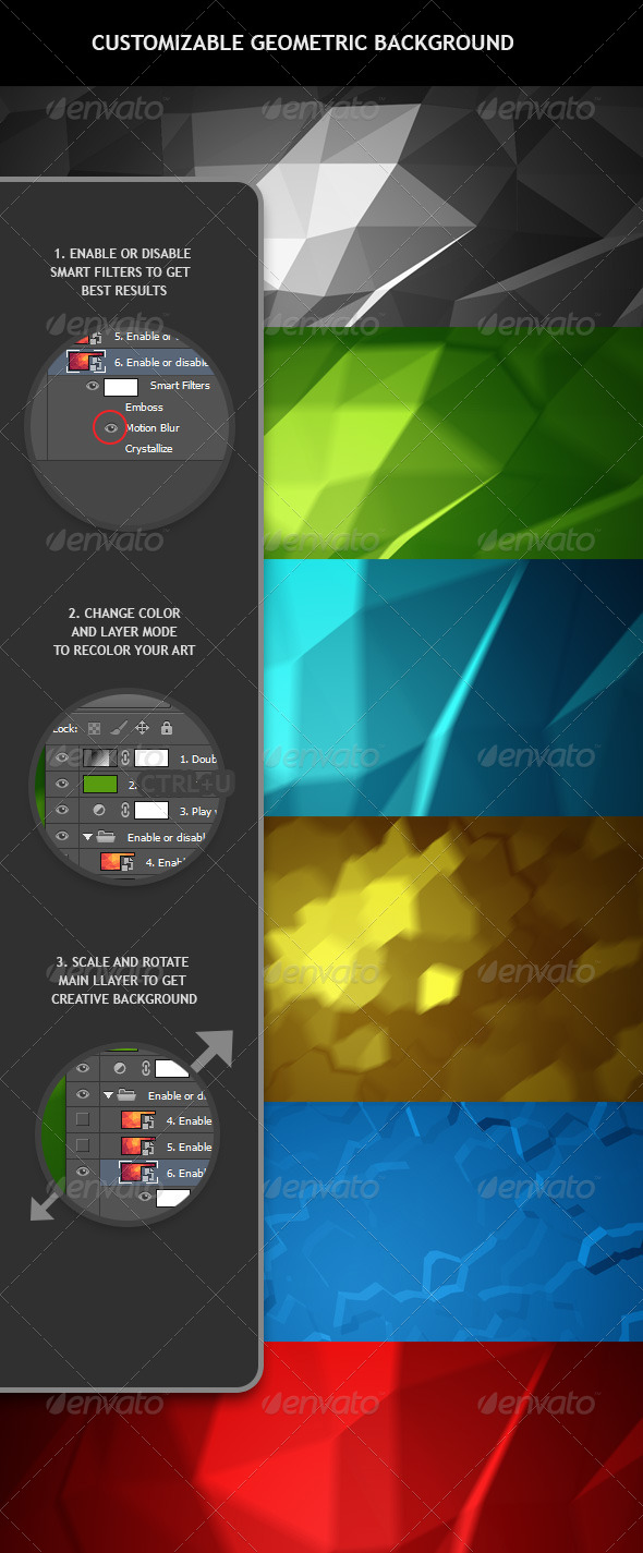GraphicRiver Customizable Geometric Background 6723421