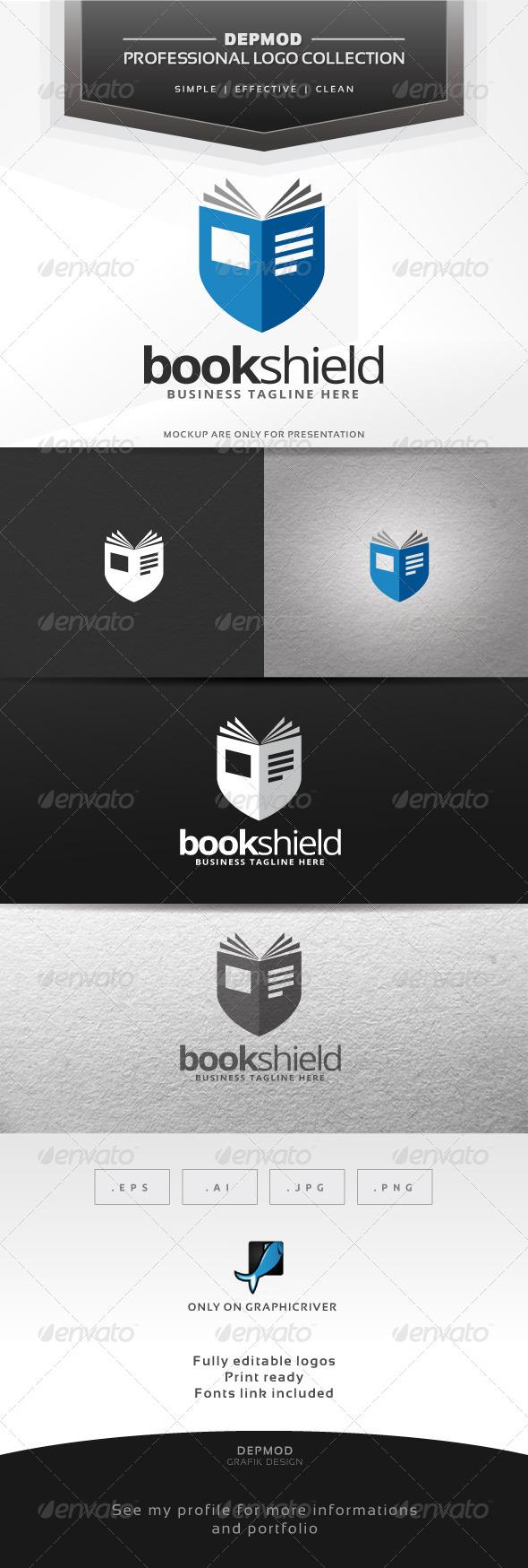 GraphicRiver Book Shield Logo 6777666