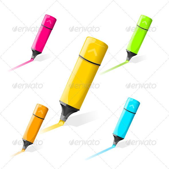 GraphicRiver Multi-Colored Markers 6777862