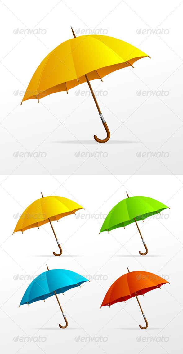 GraphicRiver Vector Umbrellas Colour Set 6778162