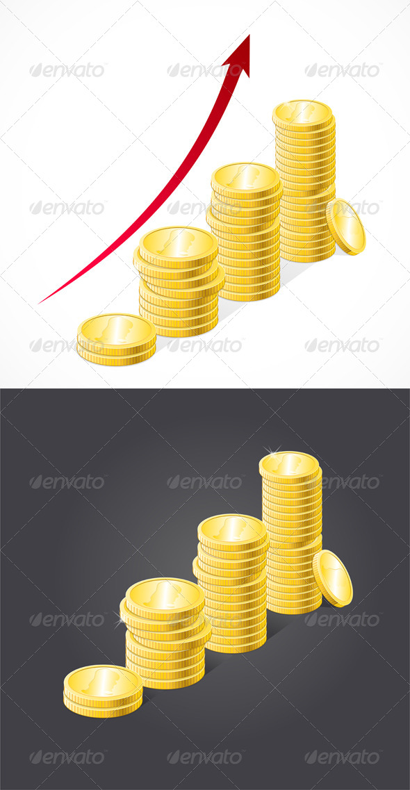 GraphicRiver Coins Stack 6778197