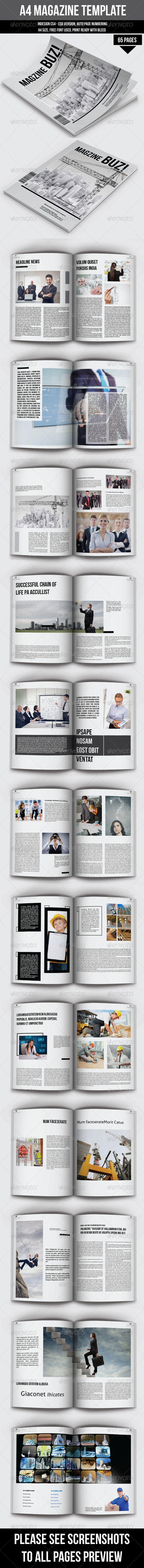 GraphicRiver 65 Pages Magazine Template 6778234