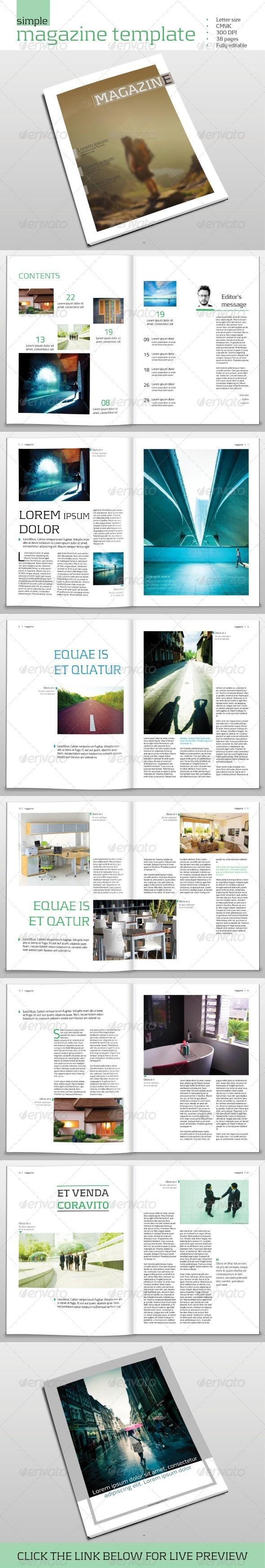 GraphicRiver Simple Magazine template 6778501