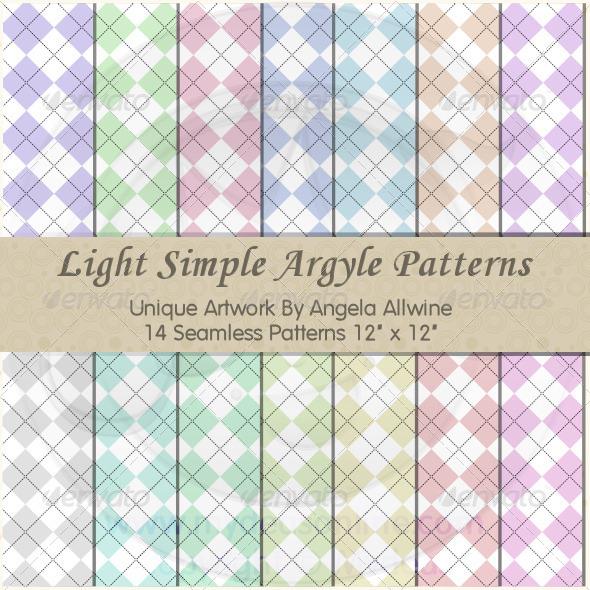 GraphicRiver Light Simple Argyle Pattern Set 6778502