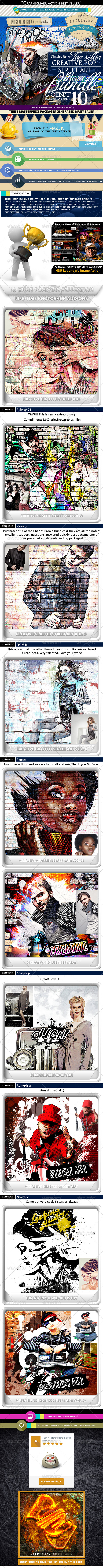 All Charles Brown's Pop Street Art Bundle - Photo Effects Actions