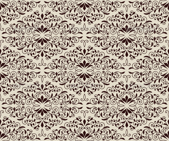 GraphicRiver Seamless Vintage Floral Pattern 6778797