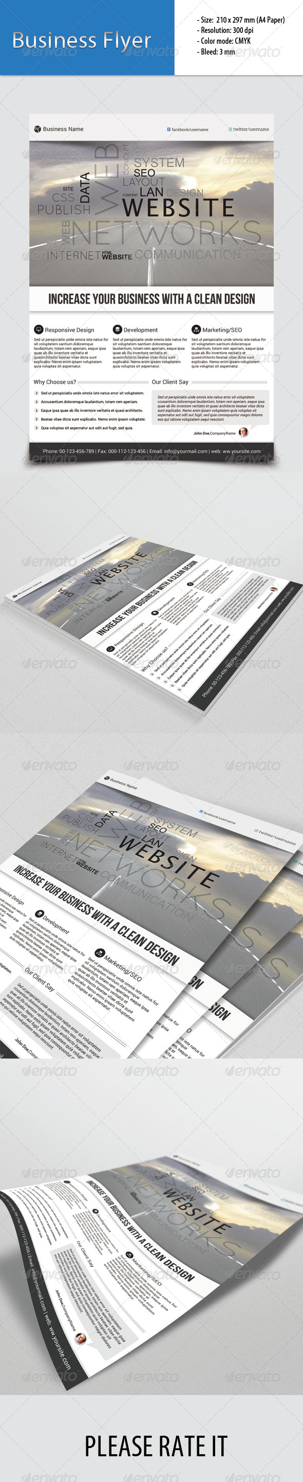 GraphicRiver Corporate Flyer Template 6779295