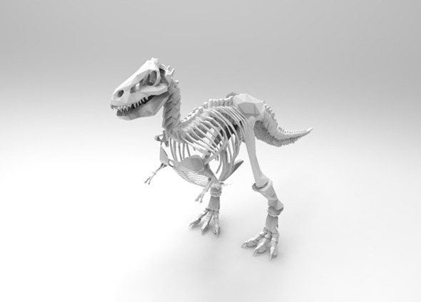 T-Rex skeleton - 3DOcean Item for Sale
