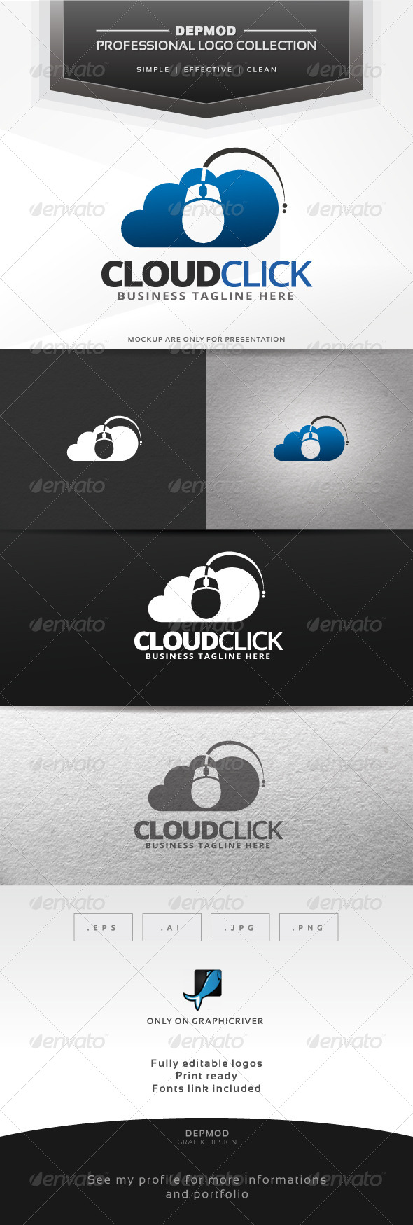 GraphicRiver Cloud Click Logo 6780204