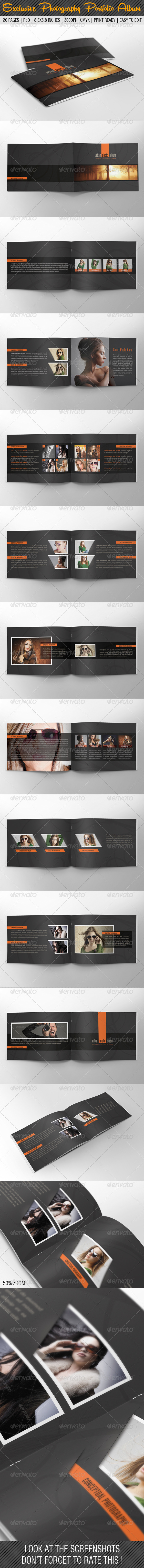 GraphicRiver Exclusive Photography Portfolio Album 05 6780205