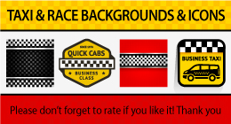 TAXI & RACE BACKGROUNDS & ICONS