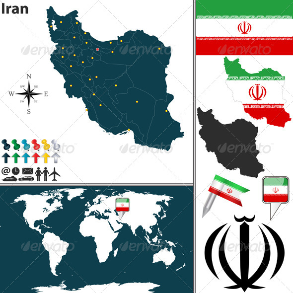 GraphicRiver Map of Iran 6780611