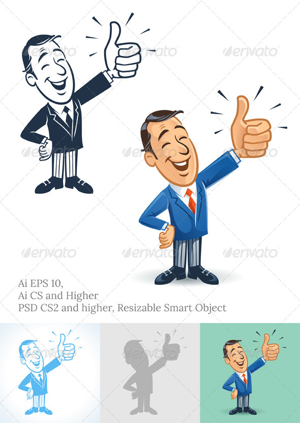 GraphicRiver Thumbs Up Businessman 6780664