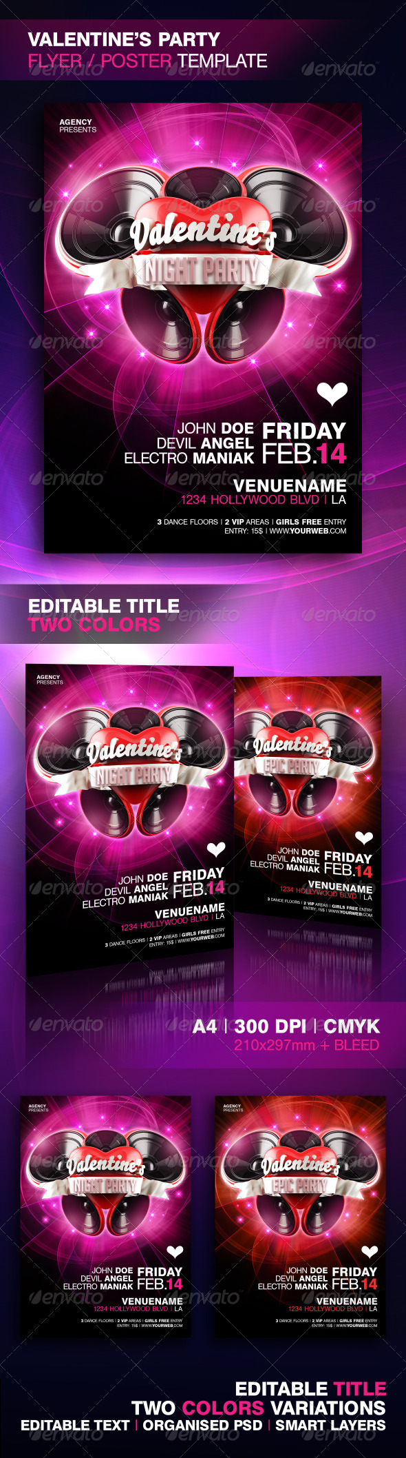 GraphicRiver Valentine's Party Poster and Flyer Template 6770502