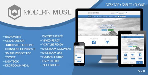 Modern Muse Template 2.0