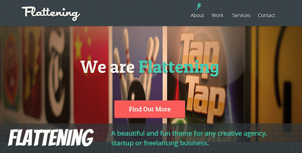 ThemeForest Flattening Responsive One Page Template 6781296