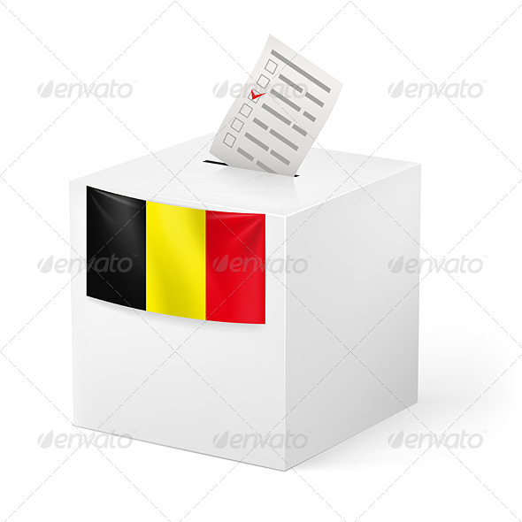 GraphicRiver Ballot Box with Voicing Paper Belgium 6781349