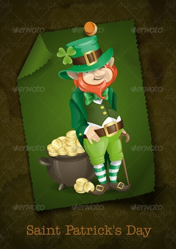 GraphicRiver Leprechaun With Pot of Gold 6781583
