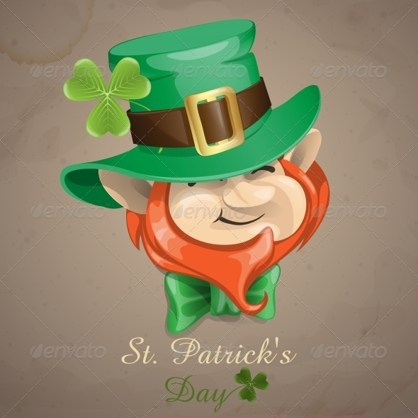 GraphicRiver St Patrick s Day Leprechaun Face 6781632