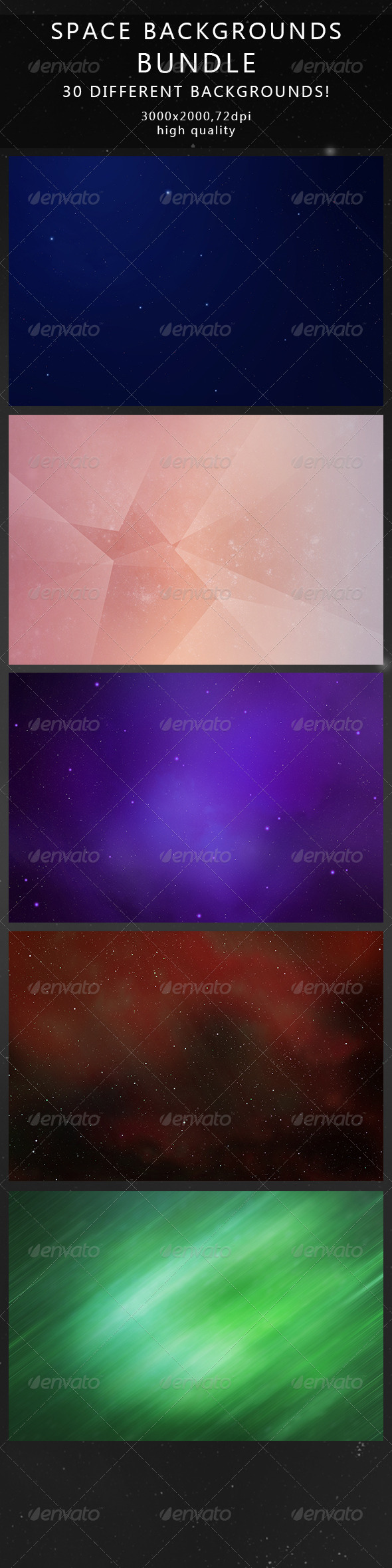 GraphicRiver Space Backgrounds Bundle 6781767