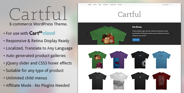 Cartful - Ecommerce WordPress Theme for Cart66