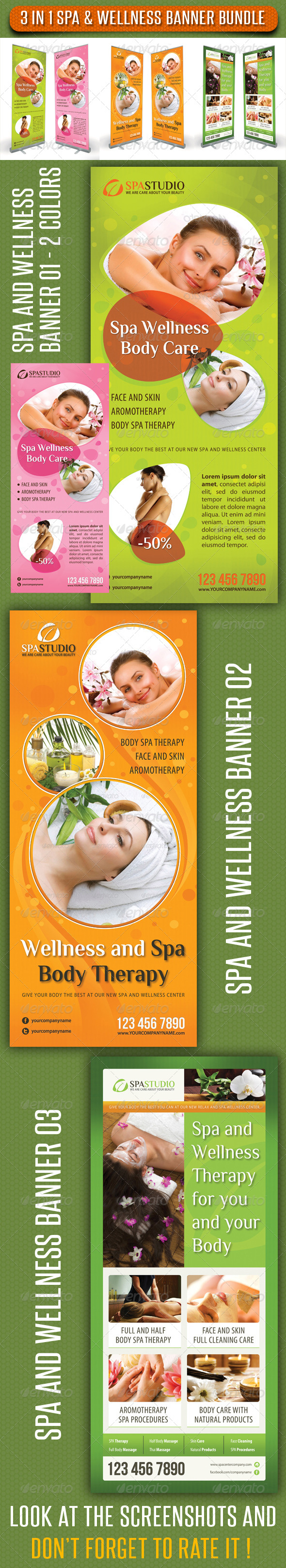 GraphicRiver 3 in 1 Spa Wellness Banner Bundle 03 6782112