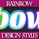 Set of Beautiful Rainbow Text Graphic Styles. - GraphicRiver Item for Sale