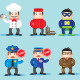 Group Characters and Their Trades - GraphicRiver Item for Sale