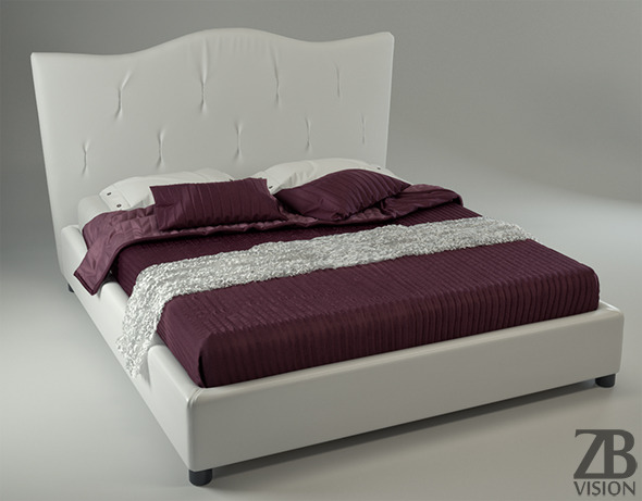 Realistic Bed - 3DOcean Item for Sale