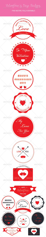 GraphicRiver Valentine s Day Badges Set 6782279