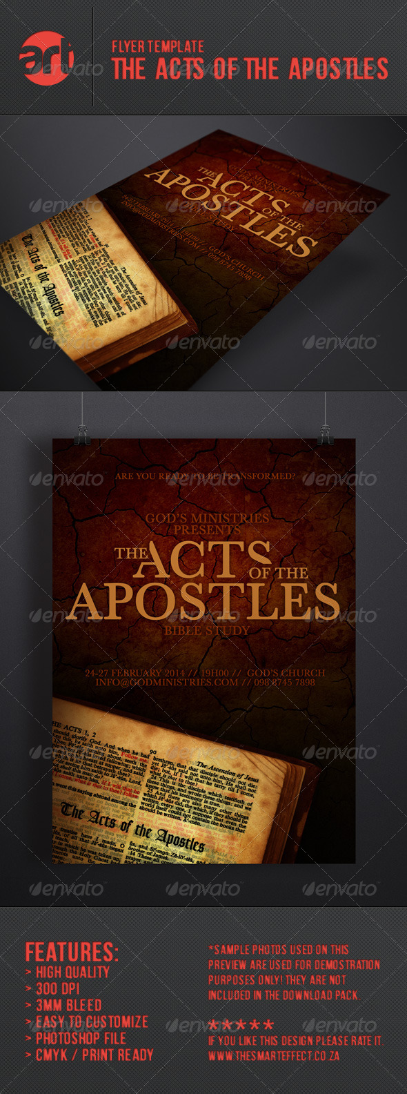 GraphicRiver The Acts of the Apostles Flyer Poster 6782592