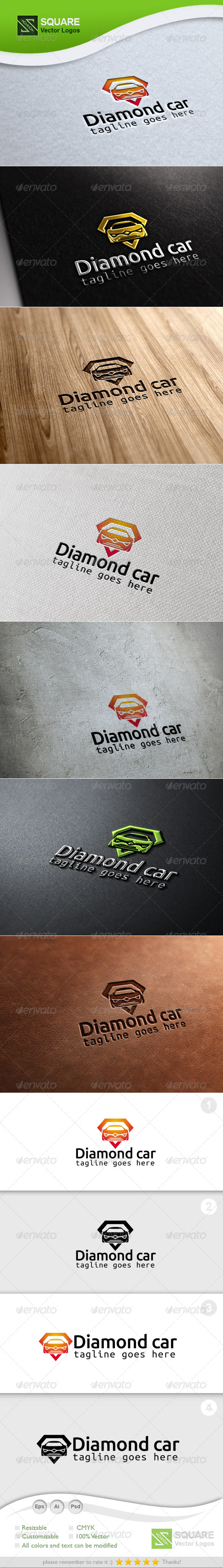 Diamond, Car Vector Logo Template