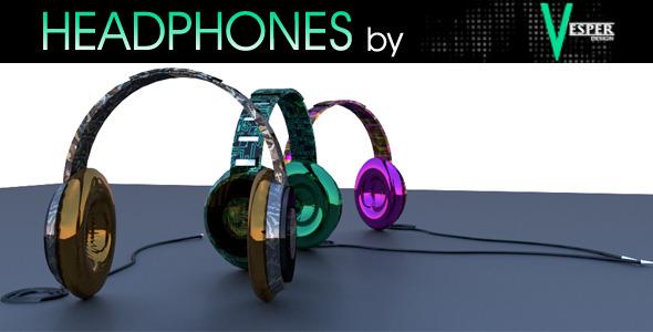 3DOcean Headphones by Vesper 6782676