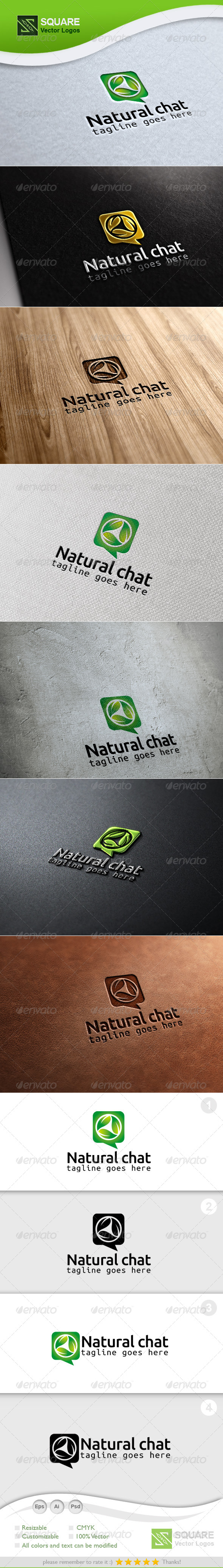 GraphicRiver Leafs Chat Vector Logo Template 6782739
