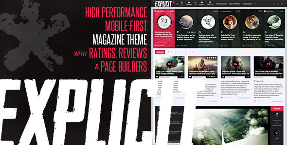 Explicit - High Performance Review/Magazine Theme