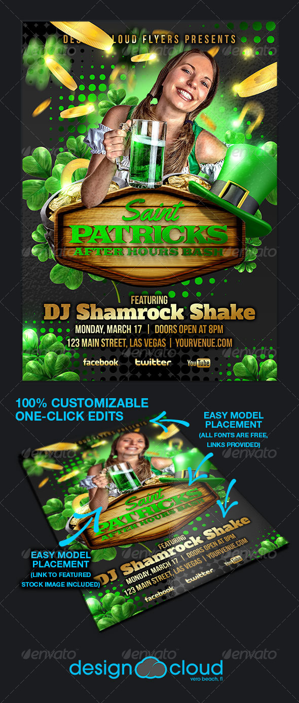 GraphicRiver St Patricks After Hours Bash Flyer Template 6782873